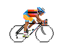Pixel art (The bicycles series)