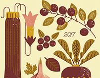 Illustrated Calendar 2017 - Seasonal Eats