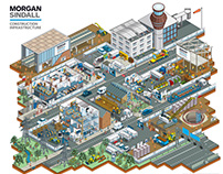 Morgan Sindall Site Set-Up Guide Illustration