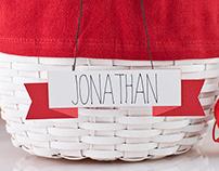 Easter Basket Name Banner