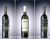 CGI Packshot Georgian wines