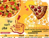 menu slice pizza