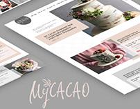 Landing page MyCacao - Floristics & confectionery art