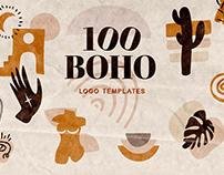 100 Boho Logo Templates