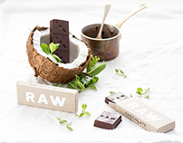 R A W [Peppermint + Coconut] Chocolate