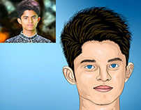 Cartoon & Caricature design vector portrait.