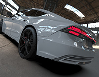 A7 Sportback rendering with low pc