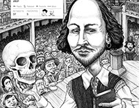 Shakespeare and Emily Dickinson posters/postcards