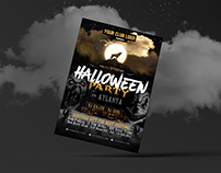 Free Halloween Night Party Flyer Design Template