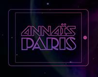 Annaïs Paris Web Design Concept