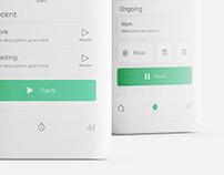 Time Tracker App UI
