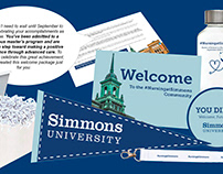 Simmons Welcome Admitted Student Care Package