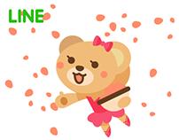 Bearellina -Stickers for LINE