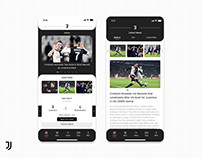 Juventus FC Application - Redesign Concept