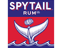 Spytail Rum Label Illustrations created by Steven Noble