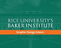 The Baker Institute Graphic Design Internship 2019
