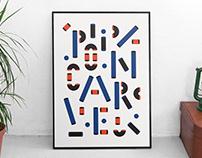 Poincaré — a modular/layered font