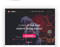 DJ BABU ONE PAGE WEBSITE