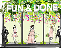 Commission Work for Weddington Way. Spring Wedding