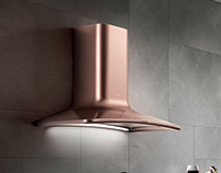 Render per Elica: SWEET COPPER DESIGN FABRIZIO CRISÀ