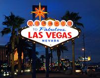 Tourist spot Las Vegas strip