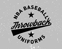 Throwback NBA Baseball Uniforms