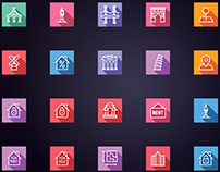 Real Estate - Building and Construction Icons