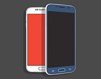 Freebie: Samsung Galaxy S6 Flat PSD Mockup