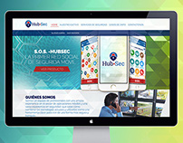Hub-Sec - Website Design