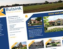 Huisstijl en website Bulsink Makelaars