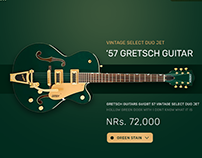 Guitar Shop UI Free PSD File