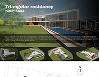 Triangular residency - family house project
