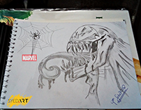 Marvel Venom (Lead Pencil Art) by Syed Art
