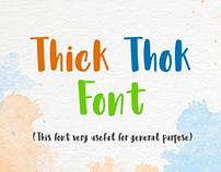 Thick Thok Font