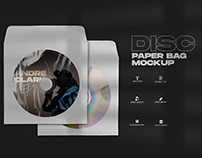 Free Disc Paper Bag Mockup