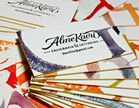 Letterpress & Calligraphy Business Cards - Aline Kaori