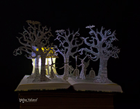"""Three Witches"" Halloween Book Art"