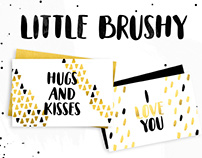 Little Brushy - Free Hand Painted Font