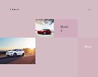 Tesla website redesign concept #2