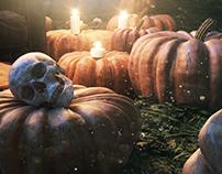 CG Pumpkin Scene