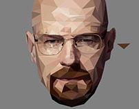 Polygonal art- Heisenberg, breaking bad