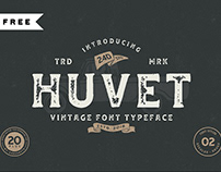 FREE | Huvet Vintage Font