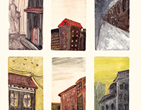 "Printmaking ""Pieces of the City"""