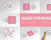 Square Flyer Mockup Set | Free download