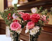 Nellie's 60th Birthday: Floral Arrangements