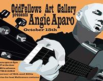 Angie Aparo Gig Poster