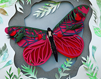 """Paper collage for a fairy tale """"Butterfly"""""""