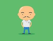 flat char bald