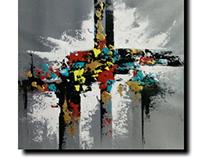 Acrylic on canvas Abstract art