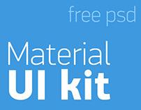 Material UI kit, free psd